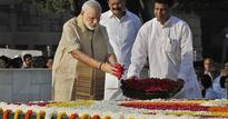 Leaders pay floral tributes to Mahatma Gandhi, apostle of peace and non violence