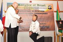 Knighting ceremonies held for new members of Knights of Rizal Emarat Chapter
