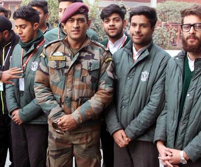 PHOTOS: Dhoni interacts with students at DPS Srinagar