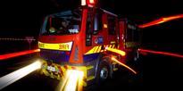 Warkworth power pole on fire