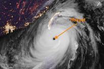 Crazy satellite images show Super Typhoon Meranti swallowing tiny island