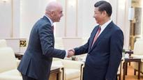 Football: Chinese President Xi Jinping meets FIFA head amid World Cup speculation