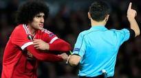 Louis van Gaal asks Fellaini to calm down