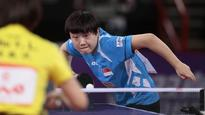 Table Tennis: Singapore's Feng crashes out of world championships