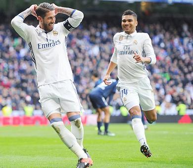 La Liga: Resurgent Ramos sinks Malaga as Real increase lead at top