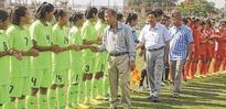 Junior Girls' Inter District Football Imphal East thrash Bishnupur by 12 0 in opening match