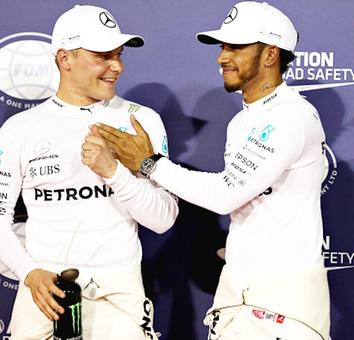F1: Bottas ends Hamilton's pole run in Bahrain