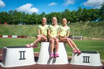 Fuelled by ice-cream, Estonia's triplets seek Olympic glory