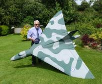 Model of beauty: Vulcan bomber takes to the skies again thanks to retired RAF pilot