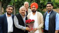 New CLP leader Charanjit Singh Channi calls on Capt Amarinder