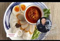 How to make mohinga with Cooking Guru Chef Ian Kittichai.