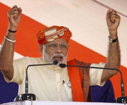 Let Cong netas asking about my family know, I'm son of Bharat Mata: Modi