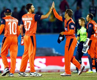 World T20: Netherlands pip Ireland in rain-hit dead rubber