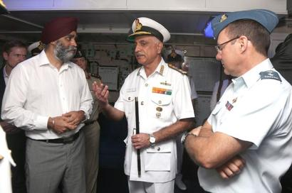 Canada's defence minister visits Western Naval Command