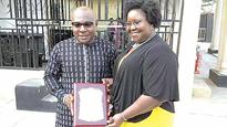 Life after NDDC, Ibim Semenitari steps out with hubby at award ceremony