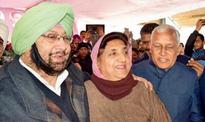 Captain Amarinder Singh by her side, Rajinder Kaur Bhattalfiles papers