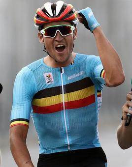 Cycling: Van Avermaet wins thrilling men's road race