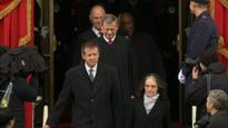 Supreme Court justices arrive at Capitol