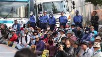 Japanese protest US Marine base in Okinawa prefecture