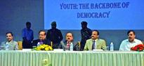Dr Jitendra inaugurates North India Student Parliament at SMVDU