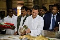 Days after Gujarat elections results, Rahul Gandhi offers prayers at Somnath Temple