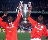 Andy Cole and Dwight Yorke reunite on the golf course as Manchester United legends undergo ambassadorial club work in Chile