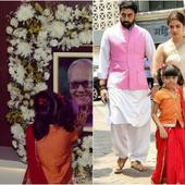 Aaradhya Bachchan pays her respects to her late Nanaji Krishnaraj Rai, see pictures