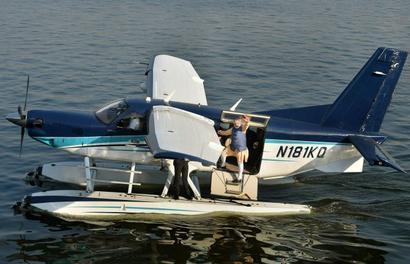 Modi's seaplane ride on Sabarmati river