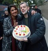 ON THE SET: Priyanka Chopra surprises Quantico co-star Russell Tovey with a cake on his 36th birthday