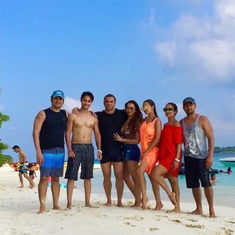 PIX: The Khans holiday in Maldives