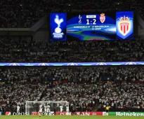 Monaco shock Spurs in front of record crowd