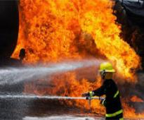A commercial complex burns down in Mazar-e-Sharif