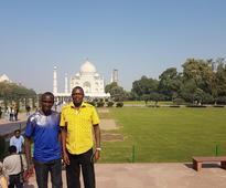 Eliud Kipchoge, winner of ADHM visits Taj Mahal