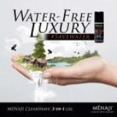 MENAJI Advanced Men's Skincare Announces #SaveWater Campaign with its Water-Free Luxury ClearShave 3-in-1 Gel