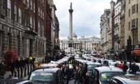 Cab drivers' Uber protest brings London traffic to a standstill