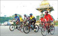 Week-long Cyclothon begins: Awareness campaign on Yuva Spandana Kendras