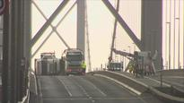 Travel chaos in central Scotland after lorry blown over on Forth Road Bridge