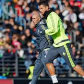 Recovering Cristiano Ronaldo returns to training for Real Madrid