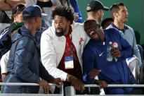Kevin Durant and the men's basketball team are the most enthusiastic Team USA beach volleyball supporters