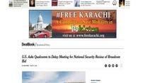 'FreeKarachi' campaign ads appear on United States Newspaper