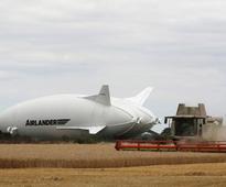 Technical glitch scrubs 'flying bum' airship's maiden run