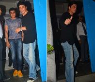 Spotted: Shah Rukh Khan Dines out with Close Friend Karim Morani