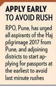 Haj pilgrims requested to apply for passports early