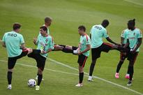 Ageing but dangerous, Portugal are still a thr... Portuguese team members (L-R) Adrien Silva, Joao Moutinho, Joao Mario, Rafae...