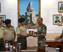 Bangaldesh Army DGMS calls upon Indian Counterparts