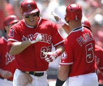 Mike Trout's grand slam caps Angels' nine-run inning in rout of Tigers