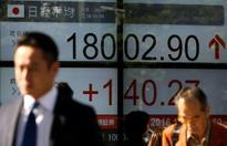 Asian shares flat but on track for weekly gains
