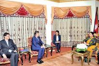 Douste-Blazy pays courtesy call on Prez Bhandari
