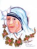 Artist's tribute to Mother Teresa