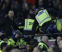 Seven arrested after violence breaks out at the West Ham v Chelsea match